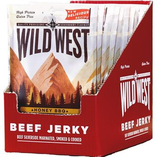 Wild West Honey BBQ Beef Jerky 12 x 25g
